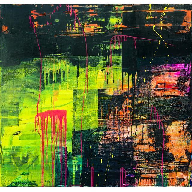 , 'NIGHT FALLS ON TULSA ,' , Exhibit by Aberson