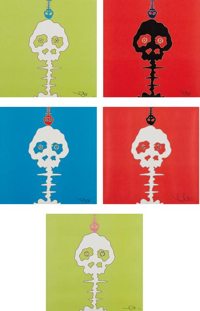 Takashi Murakami, 'Time Bokan-blue; Time Bokan-red; Time Bokan-green; LIME GREEN-TIME; RED-TIME', 2001; 2006 and 2008, Phillips