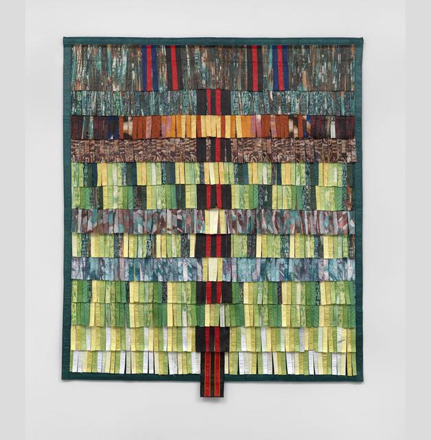, 'Composition vert avec bande rouge et noire,' 2016, Blain | Southern