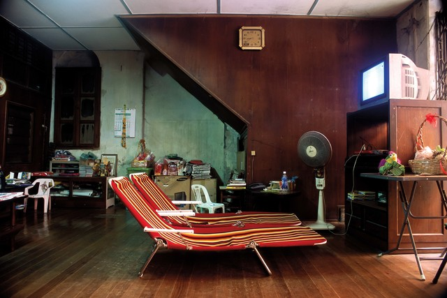 , '05_Still life with beach chairs,  dried lotus and tube television,' 2011, Art Vietnam Gallery