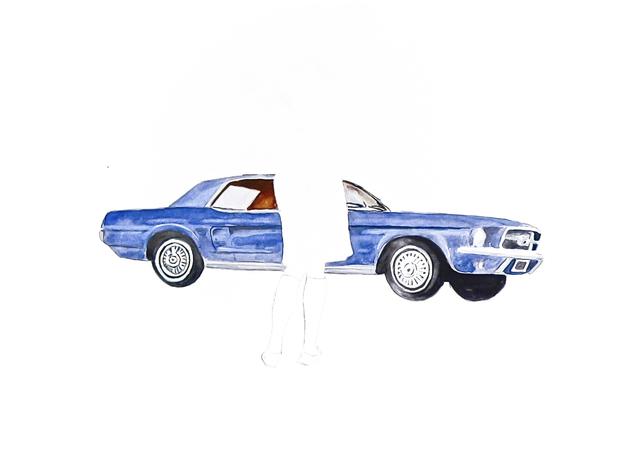 , 'Blue Mustang,' 2008, Susan Eley Fine Art