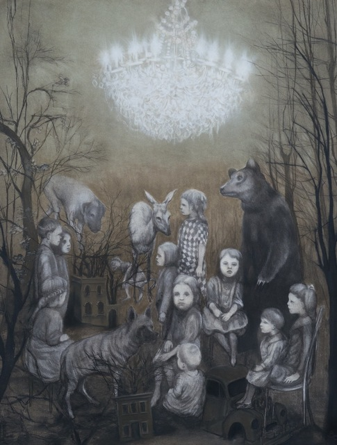 Beth Carter, 'The Gathering', Drawing, Collage or other Work on Paper, Charcoal on paper, Hugo Galerie