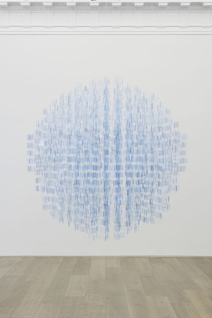 ", '""Sphère bleu fluo"",' 2001-2016, Perrotin"
