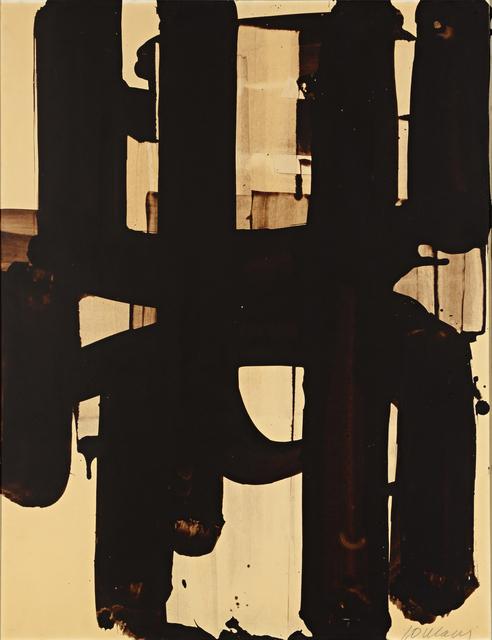 , 'Walnut stain on paper,' 1973, Galerie Berès