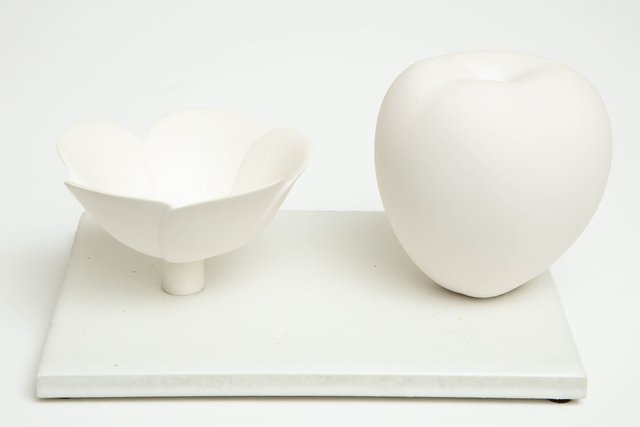 , 'Still Life in White with Apple and Floral Bowl,' 2017, Hostler Burrows