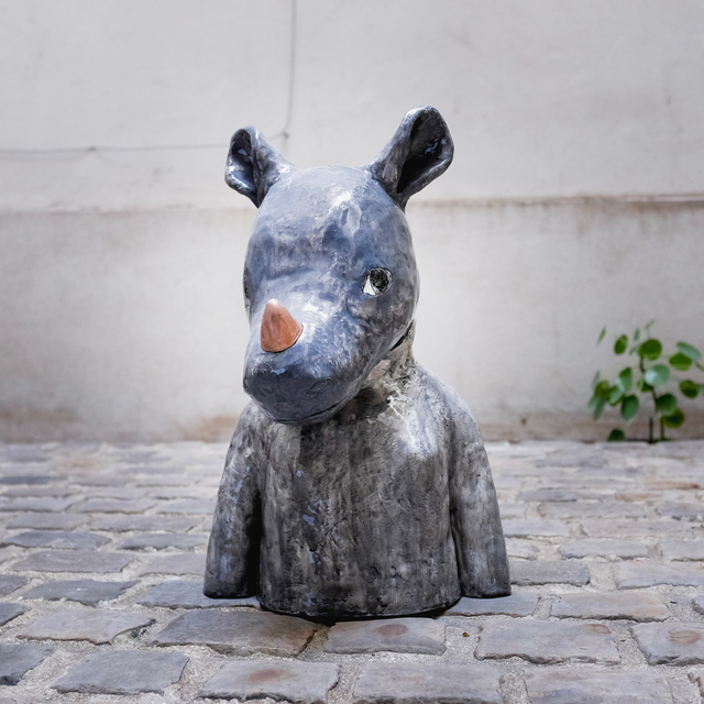 , 'Rhinoceros bust,' 2018, Antonine Catzéflis