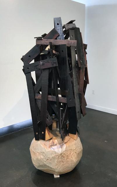 Trent Burkett, 'Ramshackle #2', 2016, Sculpture, Marble, paint, wood, metal, found object & dammar resin, JAYJAY