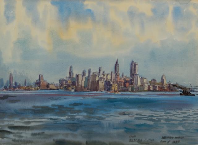 Reginald Marsh, 'New York from Bedloe's Island', 1937, Cavalier Ebanks Galleries