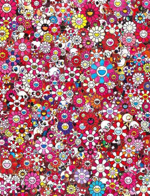 , 'Skulls & Flowers Red,' 2013, Dope! Gallery