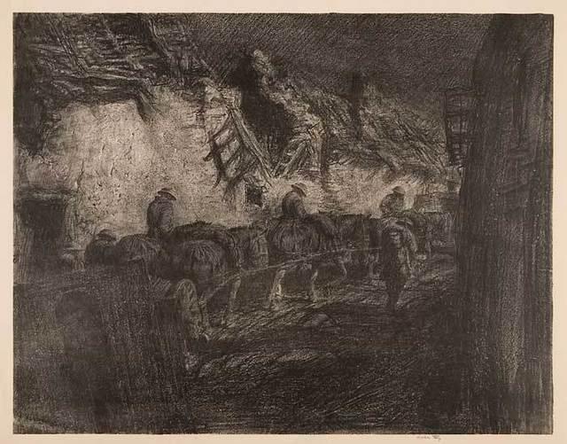 , 'The Night March,' 1919, Osborne Samuel