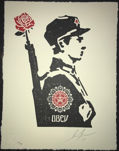 Shepard Fairey, 'Rose Soldier', 2017, New Union Gallery