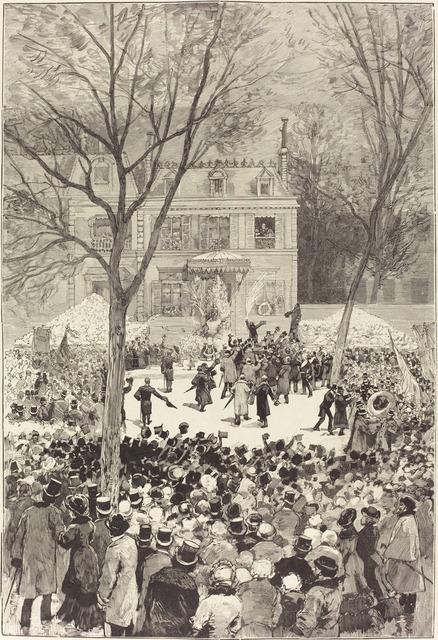 Daniel Vierge, 'Manifestation populaire du 27 Février pour fêter le 80 année de Victor Hugo', 1881, National Gallery of Art, Washington, D.C.