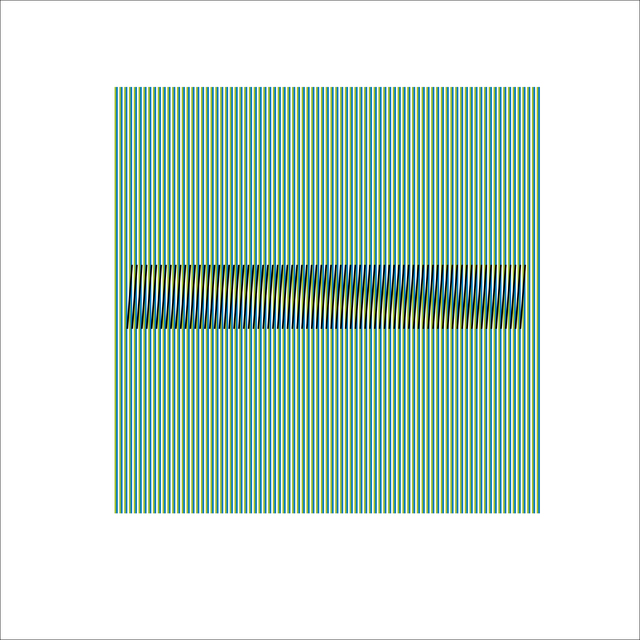 , 'Induction Chromatique a Double Frequence Marcigny 3,' 2008, Puerta Roja
