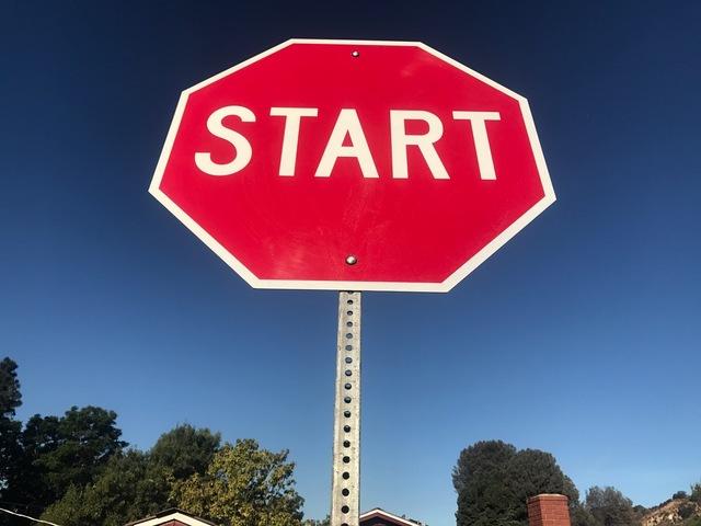 , 'Start,' 2017, Wallspace