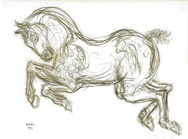 """Alfred R Kelman, '""""Circus Horse"""" - after Porcelain Sculpture ', 1993, Kate Oh Gallery"""