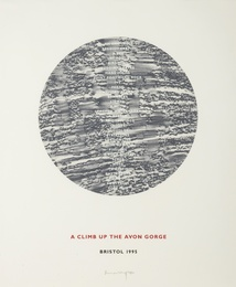 Richard Long, 'A Climb up the Avon Gorge (Vermeulen, Kolodziej, Monig 36),' 1995, Forum Auctions: Editions and Works on Paper (March 2017)