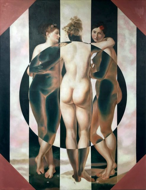 , 'Three is A Crowd (after Jean-Baptiste Regnault) ,' 2018, Jewel Goodby Contemporary