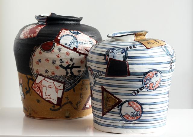 , 'Yobitsugi Style Vases #3 and #6,' 2018, Masterworks Gallery