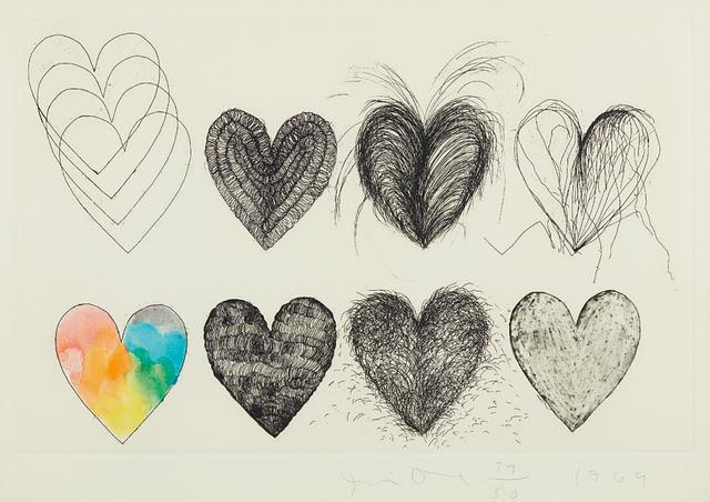 Jim Dine, 'Eight Hearts', 1969, Phillips