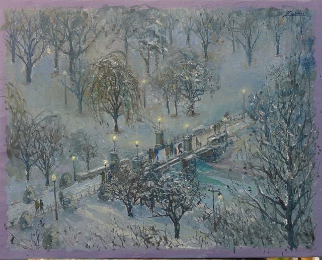 , 'Bridge in Snow Storm,' 2018, Galerie d'Orsay