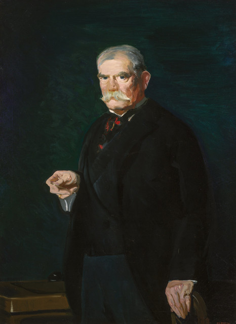 George Wesley Bellows, 'Portrait of Judge Peter Olney', 1914, Painting, Oil on canvas, Doyle