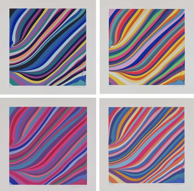 Ian Davenport, 'Diagonals- Morning, Midday, Twilight, Evening', 2019, Galerie Maximillian
