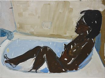Untitled (woman in bath tub, bathing)