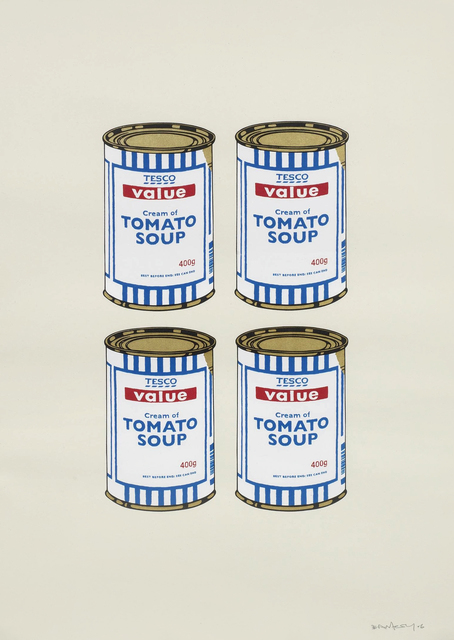 Banksy, 'Four Soup Cans (Cream)', 2006, Tate Ward Auctions