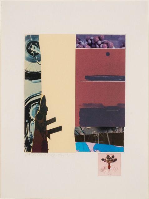 Robert Rauschenberg, 'Horsefeathers 13-XI', bG Gallery
