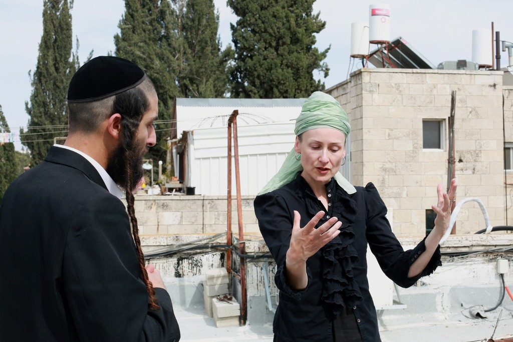 Isabel Rocamora in an essay of Faith in Jerusalem, photography by Shira Kela, 2015. Courtesy of the artist and Galeria SENDA.