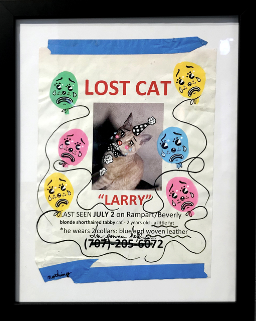 , 'Sad Lost Pet (Larry),' 2018, La Luz de Jesus Gallery