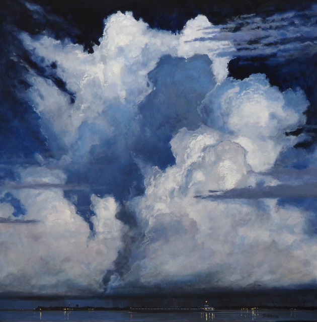 , 'Criss Cross Clouds over Tug and Barge,' , LeMieux Galleries