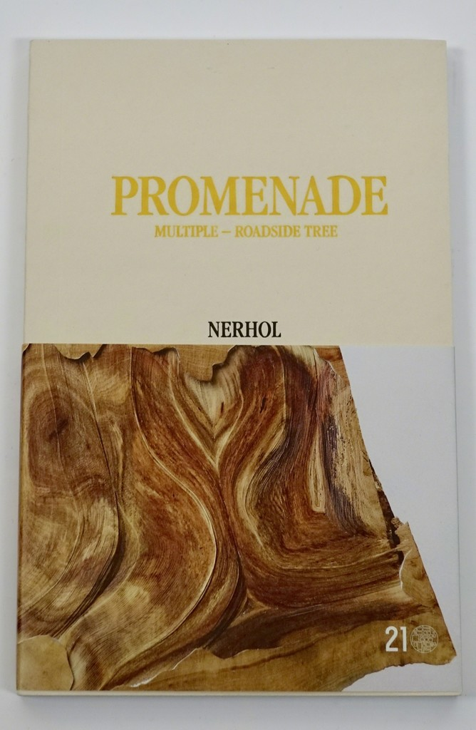 "The front page of  ""PROMENADE Multiple - Roadside Tree"" (2016, 1st Ed.) Art Book by Nerhol"