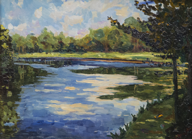 , 'Lake Near Breccles in Autumn,' ca. 1930, Heather James Fine Art