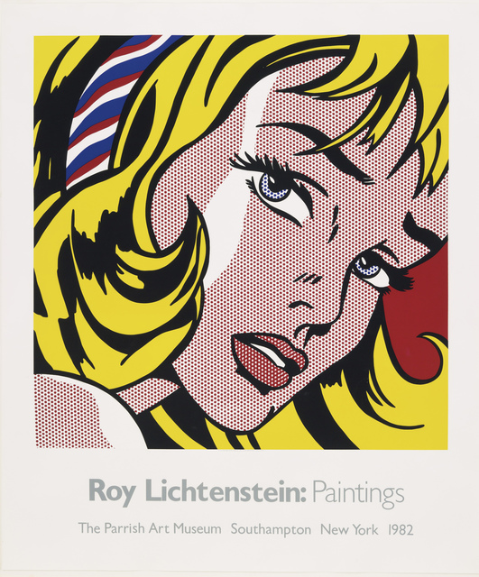 Roy Lichtenstein, 'Parrish Art Museum (Girl with Hair Ribbon)', 1982, Posters, 10 color screenprint on Arches wove paper, Petersburg Press
