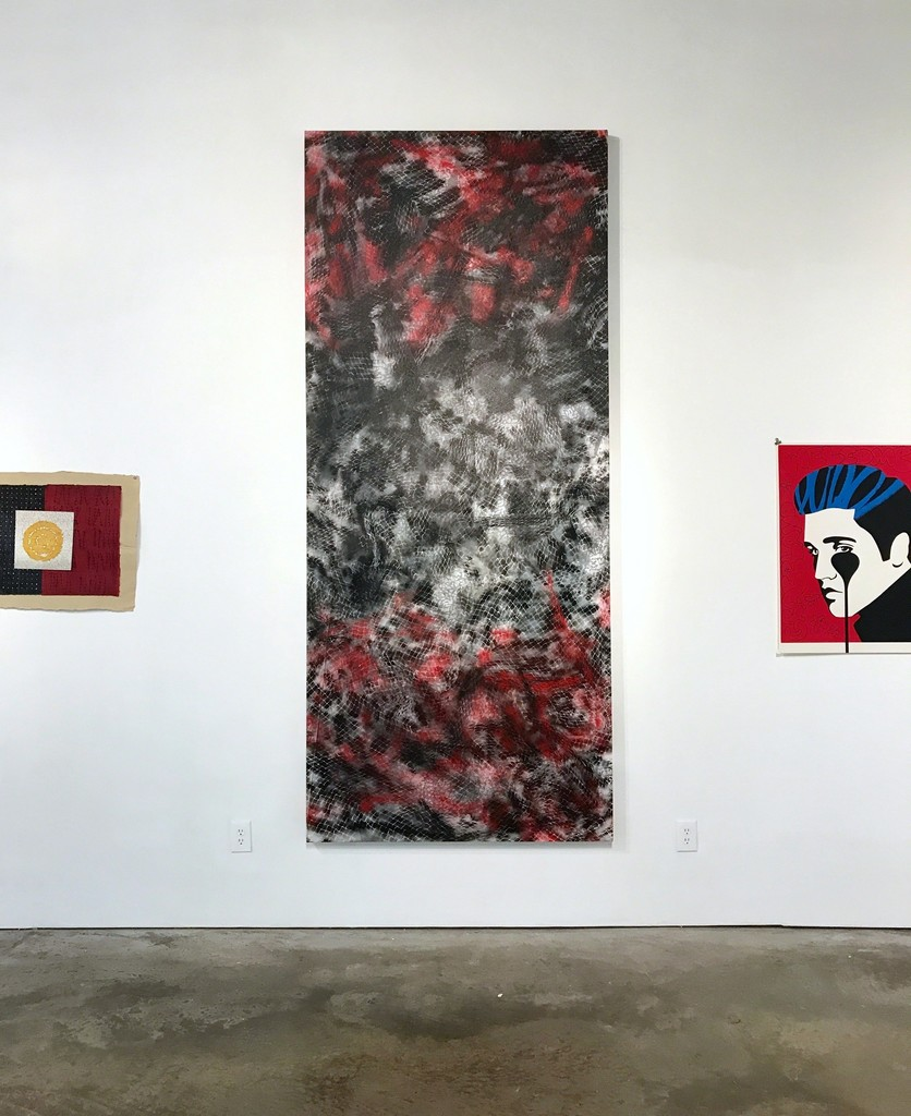 Artists Deborah Nehmad, Felipe Lopez, and Charles Uzzell-Edwards a.k.a. Pure Evil at Cindy Lisica Gallery