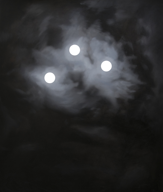 , 'Three Moons,' 2015, Galerie Sandhofer