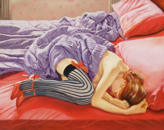 , 'Redhead in a red bed,' 2015, The Noble Sage Collection