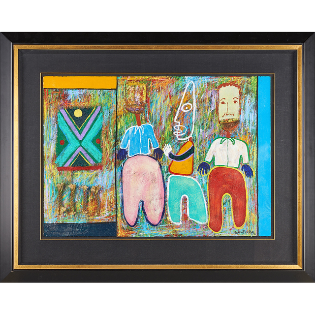 George Velaphi Mzimba, 'Two untitled oil and mixed media works on paper', 1996, Mixed Media, Rago/Wright