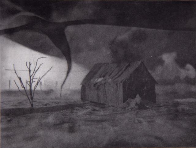 Lothar Osterburg, 'Tornado approaching Barn', 2018, Lesley Heller Gallery