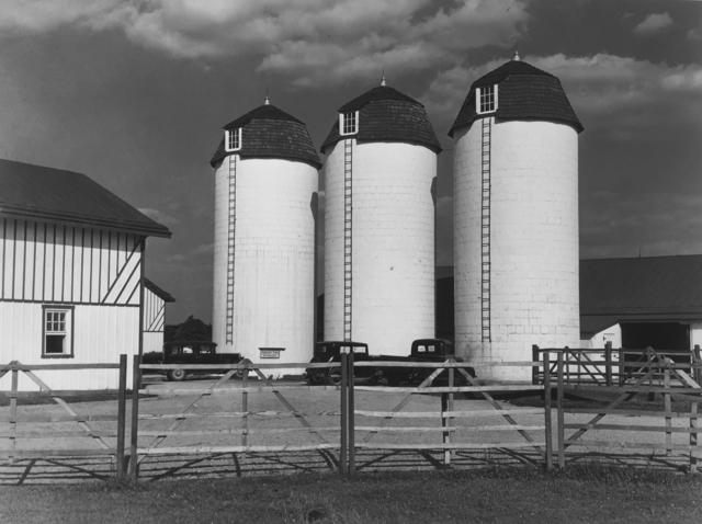 , 'Barn and silos on rich farmland, Bucks County, Pennsylvania,' 1939, G. Gibson Gallery