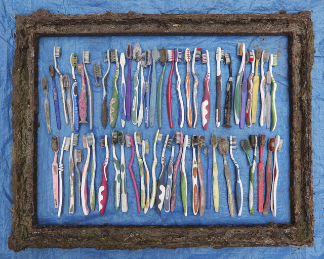 , '59 Toothbrushes,' 2016, Axis Gallery