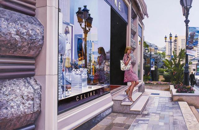 Tom Blackwell, 'Exiting Celine. Monaco', Painting, Oil on canvas, Van Ham
