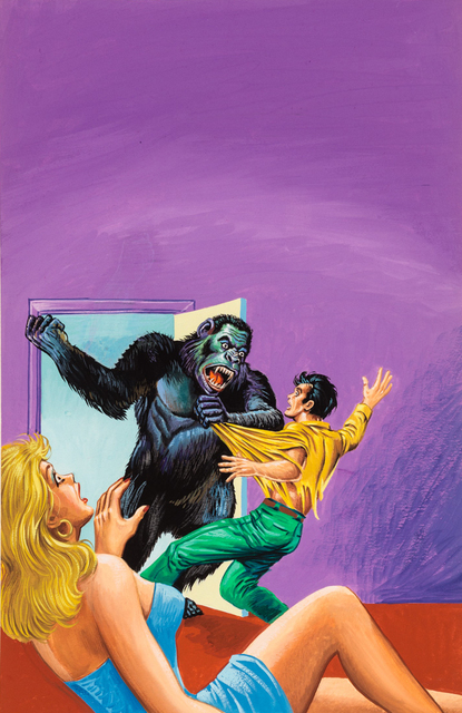 , 'Untitled (Gorilla attacking man as horrified woman watches),' c. 1960-74, Ricco/Maresca Gallery