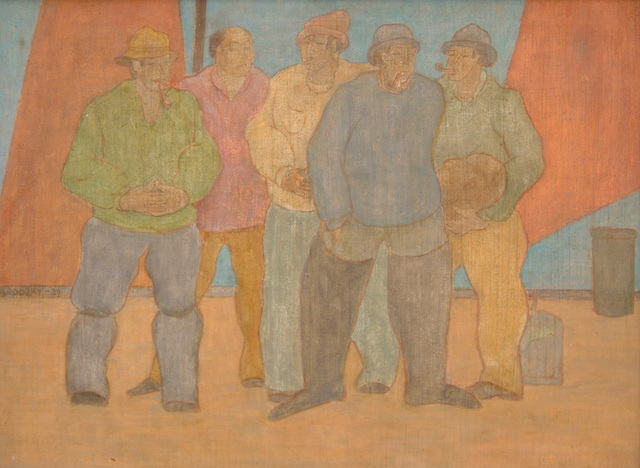 , 'Men Waiting,' 1939, Boundary Gallery