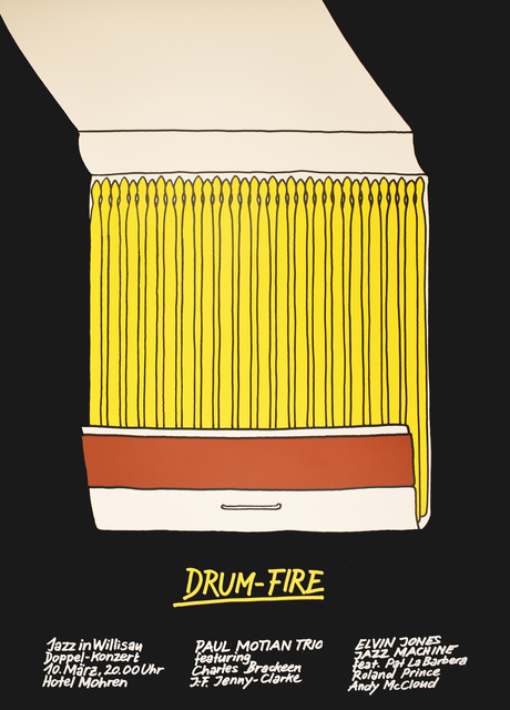 Niklaus Troxler, 'Drum-Fire Jazz in Wilisau - Match Drum Sticks ', 1979, Omnibus Gallery