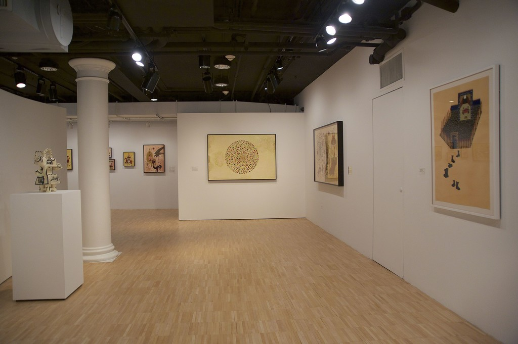 Installation view of Global/Local 1960–2015: Six Artists from Iran at Grey Art Gallery, New York University. Photo: Alvia Urdaneta Studio
