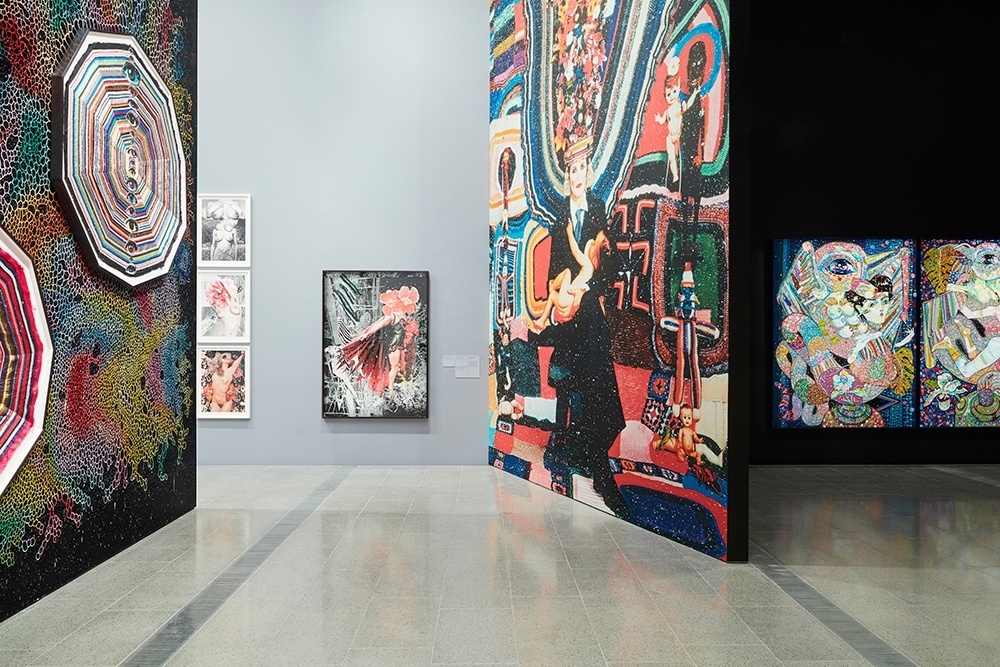 Installation views of Del Kathryn Barton: The Highway is a Disco at the Ian Potter Centre: