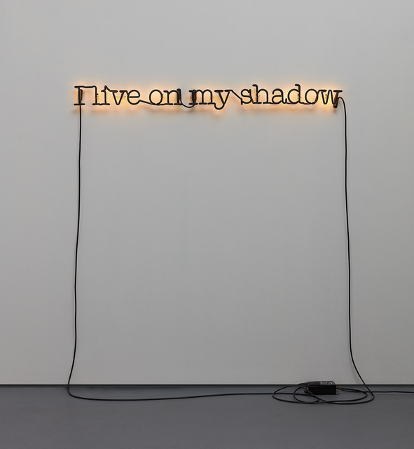 Glenn Ligon, 'Untitled (I Live on My Shadow)', Installation, Neon and paint, Phillips