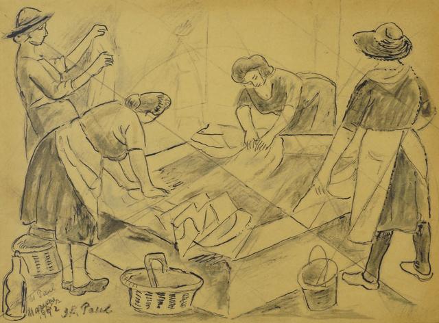 Marie Vorobieff Marevna, 'Women washing, St. Paul', 1942, Roseberys